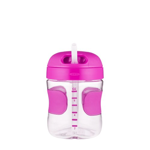 OXO Tot Twist Lid Straw Cup (7 oz.) - Pink by OXO (Image #1)