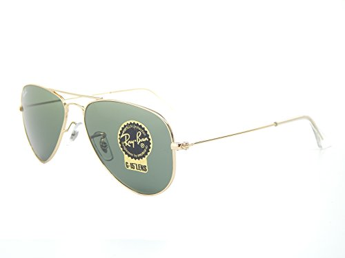 New Ray Ban RB3044 L0207 Gold/Green Classic G-15 52mm - Classic Ray New Aviator Ban