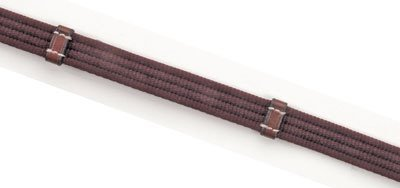 Kincade Web Reins With Grip - No Dees - Brown, 3/4x54