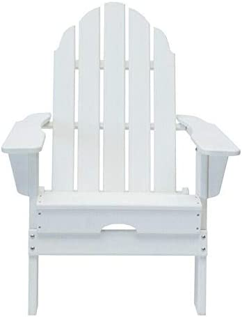White Folding Adirondack Chair (2-Pack) Outdoor Furniture Patio Furniture Patio Chairs Outdoor Chairs Patio Seating Patio Chair Outdoor Patio Furniture Chairs for Outside Adirondack Chairs