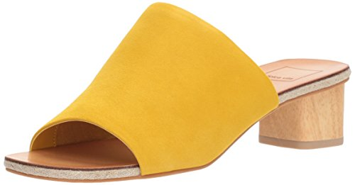 Dolce Vita Women's Kaira Slide Sandal, Yellow Suede, 6 M US by Dolce Vita