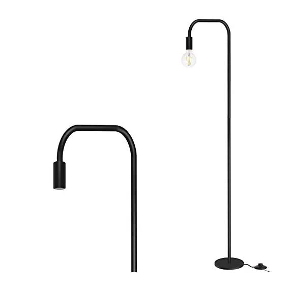 Addlon Floor Lamp with  E26 Socket - Tall Lamp for Living Room & Office - ✅【SATISFACTION WARRANTY】 3-year warranty !Your satisfaction is first. If you are not fully satisfied for any reason, please contact us. ✅【STURDY AND SAFE USE】: The well weighted, high-stability base prevent being tipped over by anyone includes the aged, child, pets. ✅【Creat Your Own Style】The Industrial floor lamp built-in e26 socket allows you to customize your stylish lamps with different shapes of light bulbs.(Bulbs are sold separately) - living-room-decor, living-room, floor-lamps - 310NPSoHDQL. SS570  -