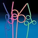 Crazy Loop Straws -value pack - assorted color (1-Pack of 36)