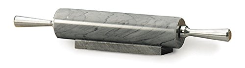 RSVP Gray Marble Rolling Pin with Stand, 17 Inch (Base Marble Pen)