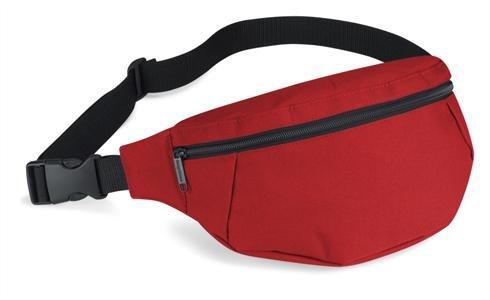 Gürteltasche von BagBase mit Reissverschluss in 7 Farben rot