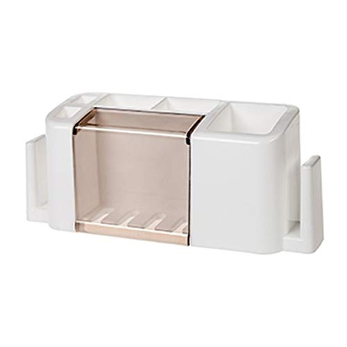 Chelsea Toothbrush Holder - Multifunctional Toothpaste and Toothbrush Holder Creative Organizer Box White