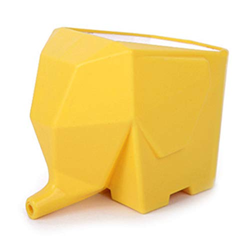 Creative Cute Elephant Design Plastic Cutlery Drainer Storage Holder Box for Home Kitchen for Drying Glasses, Bowls, Plates Drainboard Sink Drying Rack (Yellow)
