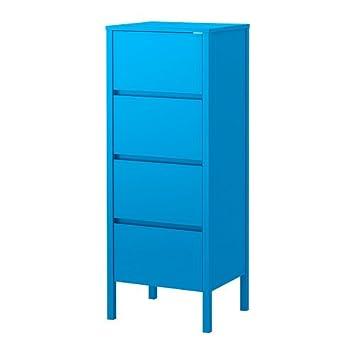 Ikea Nordli Kommode Mit 4 Schubladen Blauen 48x125 Cm Amazon