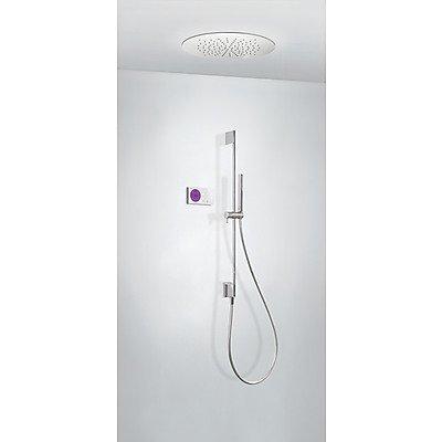 Tres Griferia - Kit Electrónico De Ducha Termostático Empotrado Shower Technology · Centralita Termostática Electrónica Incluida (2 Vías).