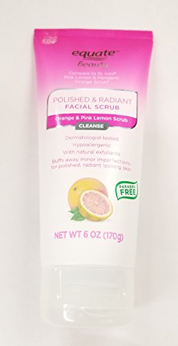Equate Beauty Polished & Radiant Orange & Pink Lemon Facial Scrub, 6 oz - Lemon Polished