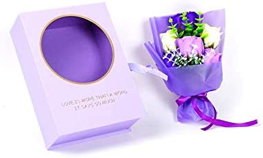 Ramo de flores de jabón con caja de embalaje, rosa perfumada ...
