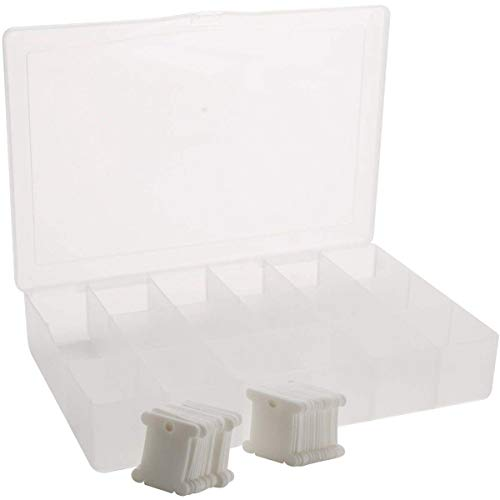 Tools & Accessory - One Box Of 50 Plastic Bobbins Floss Needlecraft Organizer - Plastic Contain Box Bobbin Empty Holder Storage Embroidery Spool Stitch Holder Embroidery Tool Cross