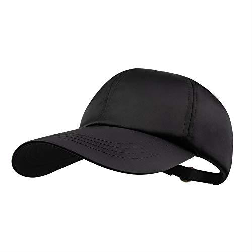 SPRING SEAON Unisex Satin Ball Cap - Panel Dad Cap Plain Washed Adjustable Unstructured Hat for Baseball Golf Tennis - Satin Dad