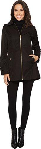 MICHAEL Michael Kors Womens Zip Front Raincoat M722069B74 Black XL One Size