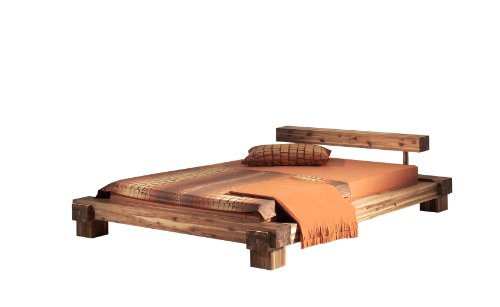 modular cal18041 bett cali 180 x 200 cm akazie massiv natur gewachst bettmix. Black Bedroom Furniture Sets. Home Design Ideas