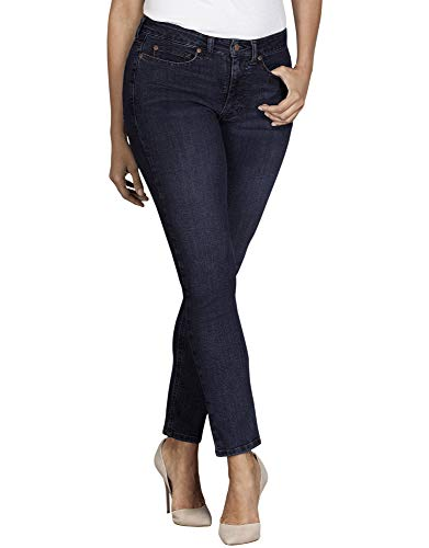 Dickies Women's Perfect Shape Denim Jean-Curvy Skinny Stretch, Rinsed Indigo Blue, 12RG