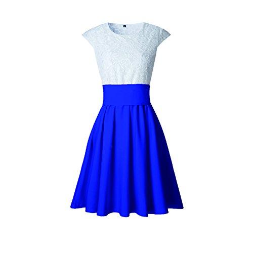 de y para mujeres elegantes Vestidos encaje para mujer corta de vestido Mini manga Huicai wvn1xB0