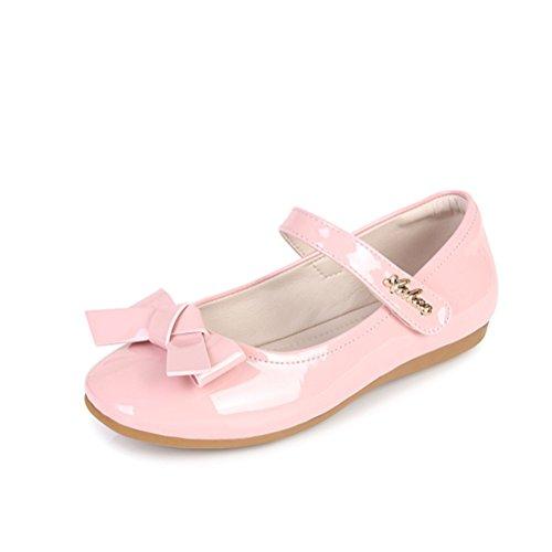 Always Pretty Flower Ballet Flat Dress Shoes Princess Shoes (Toddler/Little Kid/Little Girls) Pink 13 M