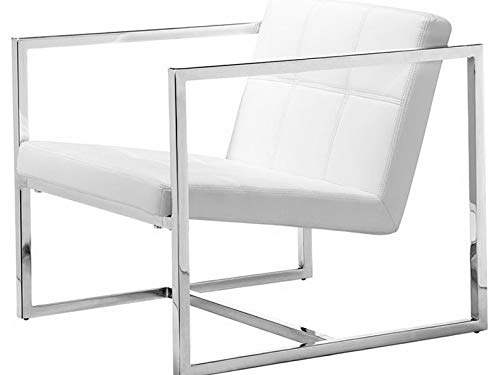 Campton Modern Contempororary Office Guest Chair in White Leatherette - Lounge Furniture   Model LNGCHR - 367 ()