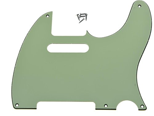KAISH 5 Hole Vintage Tele Guitar Pickguard Scratch Plate fits USA/Mexican Fender Telecaster Mint Green 3 Ply - Parts Tele Pickguard