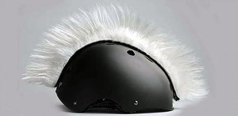 cresta per casco  Wiggystyle Mohican (Bianca) cresta per casco - Mohawk White: Amazon ...