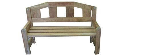 Smileswoodcraft CHUNKY Oak Bench with Arms