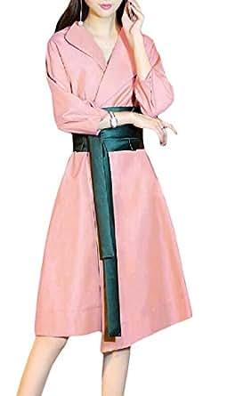 wholesale dealer 05a04 2d720 Amazon.com: Cromoncent Womens Contrast Colors Lapel Tunic ...