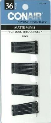 Conair Matte Minis Black Bobby Pins (3-Pack)