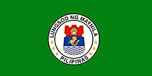 magFlags Large Flag City of Manila | landscape flag | 1.35m² | 14.5sqft | 80x160cm | 30x60inch - 100% Made in Germany - long lasting outdoor flag