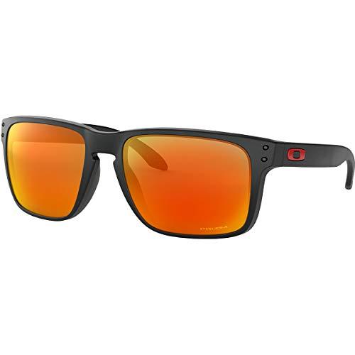 Oakley Men's OO9417 Holbrook XL Square Sunglasses, Matte Black/Prizm Ruby, 59 mm (Oakley Holbrook Sonnenbrille-matte Black)