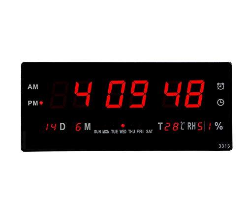 Am/PM Pantalla Digital Led Reloj Despertador con Termómetro ...