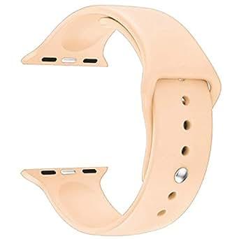 Apple Watch 42mm Bracelet Strap Soft Silicone Sporty - Pink Sand