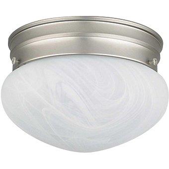 "8"" Mushroom Faux Alabaster Glass Light Fixture"