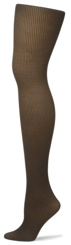 HUE Women's Spare-Ribs Tight with Control Top, Espresso, Size ()