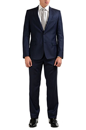 Versace Collection 100% Wool Navy Two Button Men's Suit