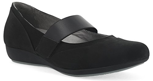 Nubuck Dansko Wedge Low Kendra Black Shoes Women's Milled Heel nqRq8rx6w4