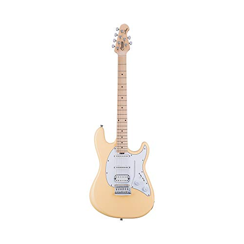 Sterling by Music Man 6 String Solid-Body Electric Guitar, Right, Vintage Cream (CT30HSS-VC-M1)