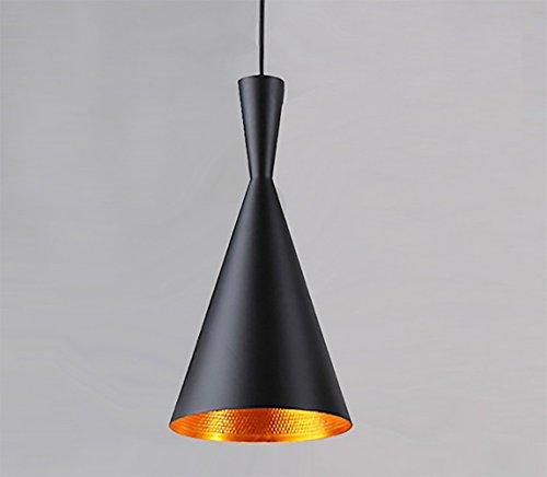 Vintage Metal Ceiling Light LED Industrial Pendant Hanging Lighting Black Lamp Shade (E27 Base, Max 60W)