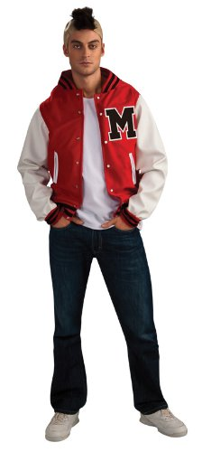 [Glee Puck Football Player Adult Costume, Standard Color, Standard] (Male Football Player Costume)