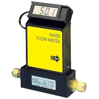 (Aalborg GFMS-011014 Thermal Gas Mass Flowmeter, to 500 L/min Ar, Aluminum Body w/Display)