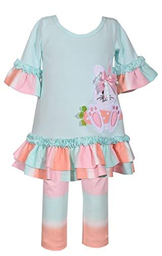 - Bonnie Jean Ombre Easter Bunny Legging Set (0m-6x) (6-9 Months) Aqua