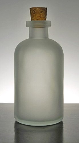 Vases Frosted Essential Glass (Dexon Power Frosted Glass 8oz Apothecary Bottles Cork Tops)