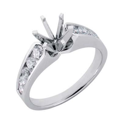 0.87 Ct rond diamant blanc 14 carats Support Semi-Bague de fiançailles-Taille 1/N JewelryWeb 2