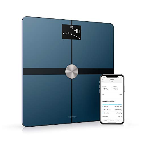 (Withings / Nokia | Body+ - Smart Body Composition Wi-Fi Digital Scale with smartphone app, Black)