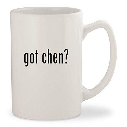 got chen? - White 14oz Ceramic Statesman Coffee Mug (Paul Chen Knife)