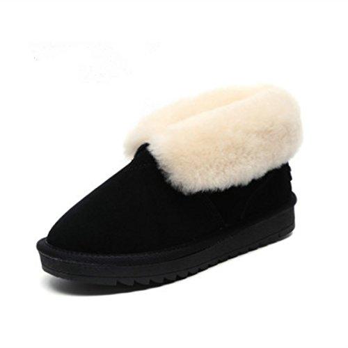 Moda Donna Inverno Caldo Neve Stivali Neri