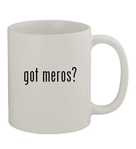 - got meros? - 11oz Sturdy Ceramic Coffee Cup Mug, White