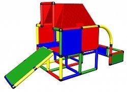 Xxl Klettergerüst 2 4m Kletterturm Mit Kletternetz Reckstange Kletterwand Leiter : Spielturm jungle gym barn m rutsche sandkasten kletterturm
