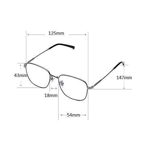 Men's Blue Blocking Glasses,Anti Eyestrain Anti Glare Lens Anti Blue Ray Computer Game Glasses Women Gaming Plain Mirror,Gold by OLDF (Image #6)
