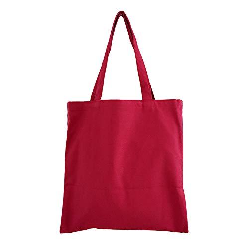 la de Rosa Mujer el Respetuoso Bolso Color Medio al Lona Ambiente Lavable Libre Reutilizable Tamaño sólido con Compra HOMYY Hombro Rojo de Vino para 0HEqwwIP